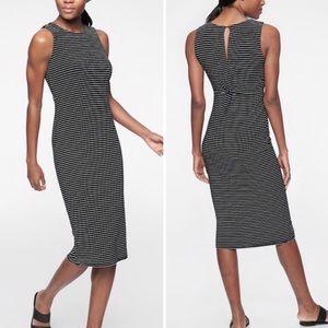 Athleta Twist Back Dress - Stripe - Size M